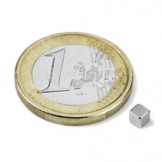 Magnet neodim cub, 3 mm, putere 290 g