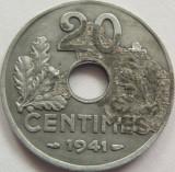 Moneda Zinc: 20 Centimes - FRANTA, anul 1941 *cod 2635, Europa