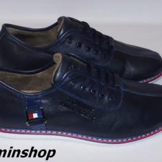 Pantofi TOMMY HILFIGER - 100% Piele Naturala - Alb / Bleumarin / Negru !!! - Pantof barbat Tommy Hilfiger, Marime: 41, 42, 43, 44