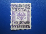 TIMBRE ALBANIA 1919  FISCAL STAMPILAT