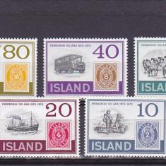 Transport postal expo, Islanda. - Timbre straine, Nestampilat