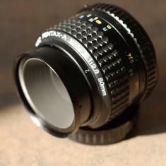 Obiectiv foto MACRO 50mm/2.8 SMC Pentax-A in Pentax K DSLR Canon/Nikon, Sony NEX