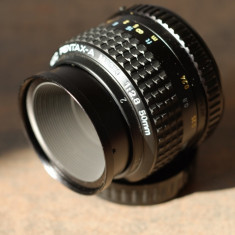 Obiectiv foto MACRO 50mm/2.8 SMC Pentax-A in Pentax K DSLR Canon/Nikon, Sony NEX - Obiectiv DSLR Pentax, Standard, Manual focus