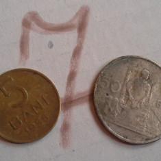 5 BANI 1955/7+CADOU 50 BANI 1955 DIN POZA - Moneda Romania