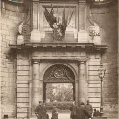 WW1 SOLDATI FRANCEZI CRUCEA ROSIE LYON INTRARE HOTEL DIEU