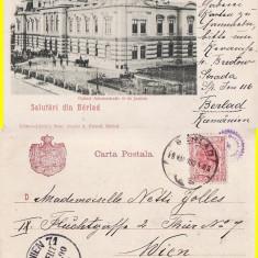 Barlad (Vaslui) - Palatul de Justitie - clasica, rara - Carte Postala Moldova pana la 1904, Circulata, Printata
