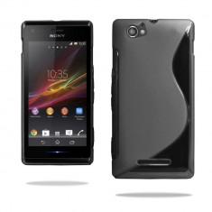 Husa SONY XPERIA M C1905 TPU S-LINE Black - Husa Telefon Sony, Negru, Gel TPU, Fara snur, Carcasa