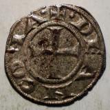 C.126 ITALIA ANCONA DENAR SEC. XIII ARGINT/BILLON 0, 65g/15mm - Moneda Medievala, Europa, An: 1299