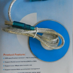 Adaptor USB Serial RS232 DB-9 USB to Serial Adapter - NOU - Adaptor interfata PC