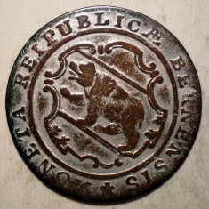 G.105 ELVETIA CANTON BERN 1/2 BATZEN 1798 XF BILLON - Moneda Medievala, Europa