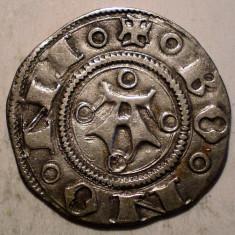 G.309 ITALIA REPUBLICA BOLOGNA BOLOGNINO GROSSO 1380 1443 GROS ARGINT 1, 2g/18mm - Moneda Medievala, Europa