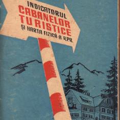 Indicatorul cabanelor turistice si harta fizica a R.P.R. - 33411 - Harta Europei