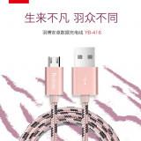 Cablu micro USB Samsung HTC Sony LG Allview Alcatel YB-416 Grey by Yoobao 2.1A - Cablu de date Yoobao, Universala
