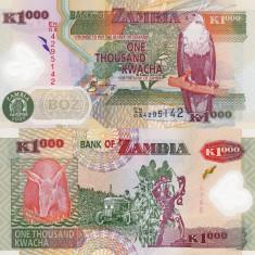 ZAMBIA 1.000 kwacha 2009 polymer UNC!!!