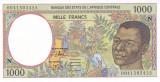 Bancnota Statele Africii Centrale 1.000 Franci 2000 - P502Nh UNC