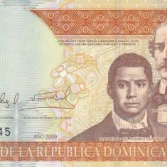 Bancnota Republica Dominicana 100 Pesos Oro 2009 - P177b UNC - bancnota america
