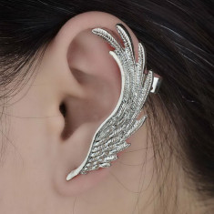 Cercel ear cuff (non-piercing), aripi de vultur foto