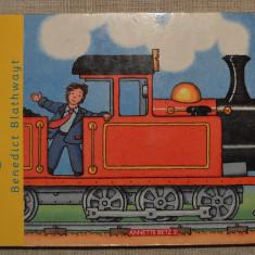 Carte pentru copii, in limba germana, despre tren (Zug Fahrt ab!) 10 pagini - Carte de povesti