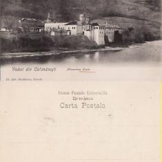 Calimanesti- Manastirea Cozia-clasica, rara - Carte Postala Oltenia pana la 1904, Necirculata, Printata