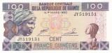 Bancnota Guineea 100 Franci 1998 - P35a UNC