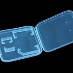 Carcasa transparenta depozitare carduri 1x Micro SD / SDHC / TF si 1x SD / SDHC - Card Micro SD