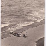 CARTE POSTALA VASILE ROAITA PE PLAJA CIRCULATA 1958 - Carte Postala Dobrogea dupa 1918, Fotografie