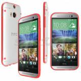 Bumper husa silicon transparenta margine bumper HTC ONE 2 M8 + folie, Alt model telefon HTC, Verde