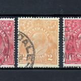 AUSTRALIA 1914 - 24 - KING GEORGE V - STAMPILATE