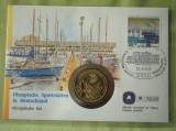 GERMANIA - FDC si Moneda 10 Mark 1972 Argint - Olympische Sportstatten - 1993, Europa