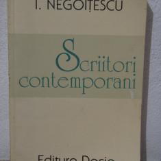 SCRIITORI CONTEMPORANI -I.NEGOITESCU - Studiu literar