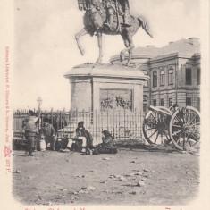 IASI MOLDOVA STATUIA LUI STEFAN CEL MARE CLASICA - Carte Postala Moldova pana la 1904, Necirculata, Printata