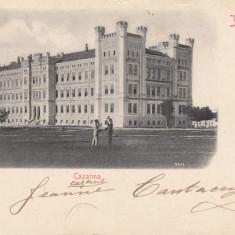 IASI, CAZARMA, CLASICA, CIRCULATA APR. *901 - Carte Postala Moldova pana la 1904, Printata
