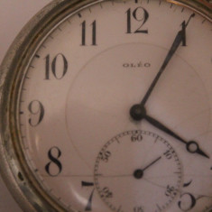 CEAS DE BUZUNAR SWISS MADE MARCA- OLEO-BILLODES-SIGLA PE MASINA SI CAPAC. - Ceas de buzunar vechi