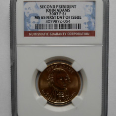 SUA / USA one dollar 2007 in capsula NGC !!! CALITATE MS 65 !!, America de Nord, Argint