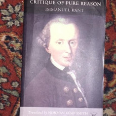 Kant CRITIQUE OF PURE REASON transl. by N. Kemp Smith
