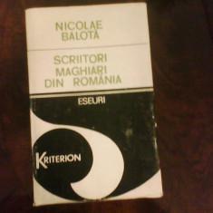 Nicolae Balota Scriitori maghiari din Romania 1920-1980, ed princeps - Eseu