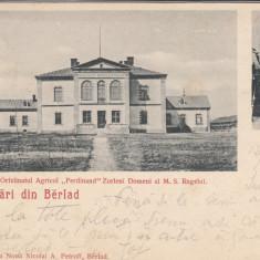 SALUTARI DIN BARLAD ORFELINAT AGR. FERDINAND ZORLENI DOMENI AL MS REGELUI 1900 - Carte Postala Moldova pana la 1904, Circulata, Printata