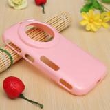 Husa roz pink silicon Samsung Galaxy K zoom S5 Zoom + folie ecran