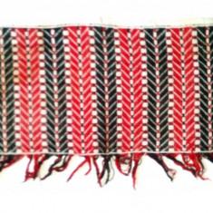 Tesatura pe etamina - draperie cu motive rustice 107cm x 30cm - Broderie