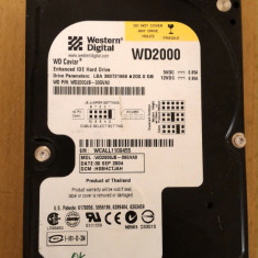 HDD PC Western Digital 200Gb IDE - Hard Disk Western Digital, 200-499 GB, Rotatii: 7200