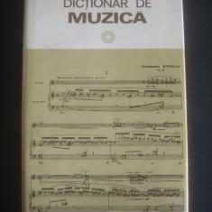 IOSIF SAVA - DICTIONAR DE MUZICA - Carte Arta muzicala