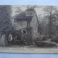 Carte postala semnata 17.12.1919 Versailles Parc du Petit Trianon, Franta, Necirculata, Printata