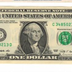 SV * SUA / Statele Unite ONE DOLLAR 2009 AUNC+ / UNC - bancnota america