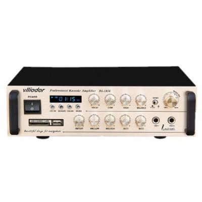 AMPLIFICATOR KARAOKE,MIXER,MP3 PLAYER USB,INTRARI MICROFOANE,160 WATT,AFISAJ LCD foto