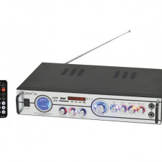 AMPLITUNER CU MIXER, MP3 PLAYER USB, AFISAJ, INTRARI MICROFOANE KARAOKE, TELECOMANDA - Amplificator audio Auna, 41-80W