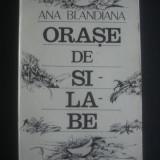 ANA BLANDIANA - ORASE DE SILABE - Roman, Anul publicarii: 1987