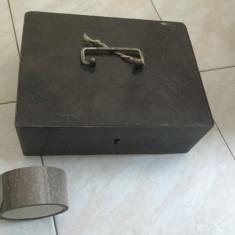 Cutie metalica veche (cu incuietoare, fara cheie)