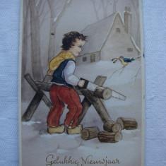Carte postala circulata de LA MULTI ANI! Belgia, Printata