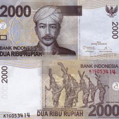 INDONEZIA 2.000 rupiah 2012 UNC!!! - bancnota asia