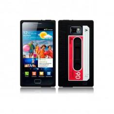 Husa neagra stil caseta Samsung Galaxy S2 i9100